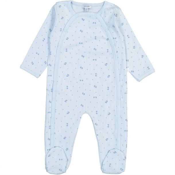 Baby Boys Footprint Romper