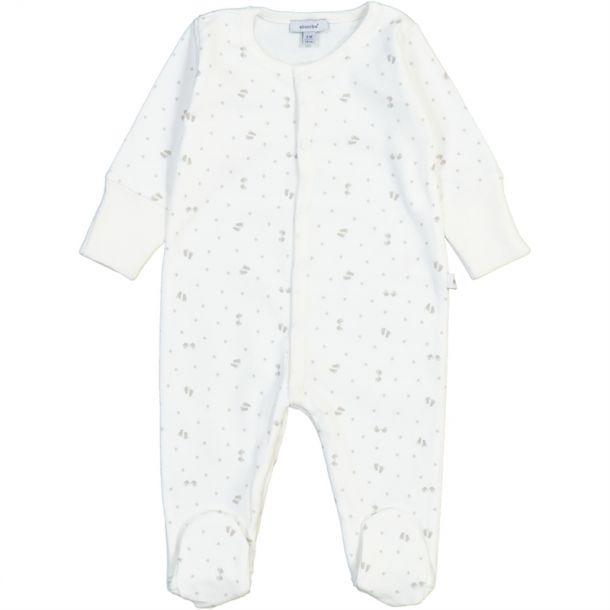 Baby Footprint Cotton Romper