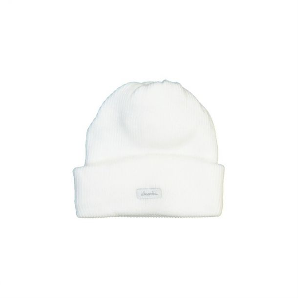 Baby Ivory Ribbed Cotton Hat
