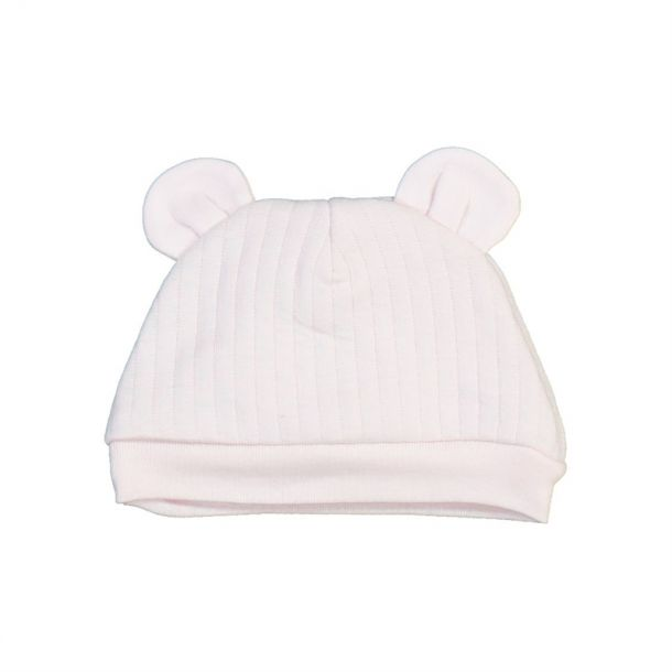 Baby Girls Ribbed Ear Hat