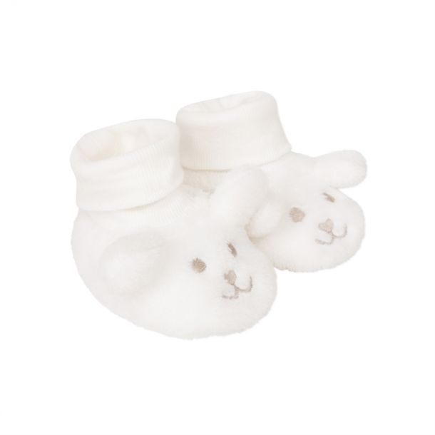 Baby Faux Fur Ivory Booties