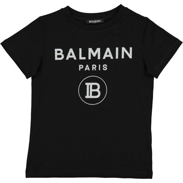 Girls Black Logo T-shirt