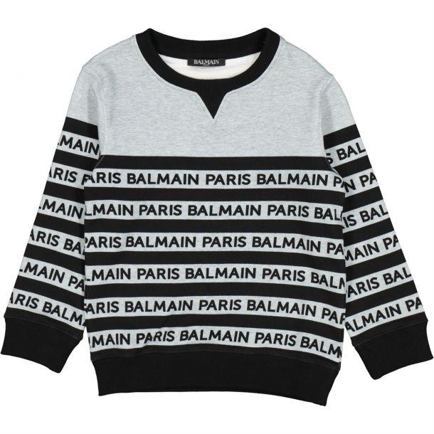 Boys Grey Paris Jersey Sweat