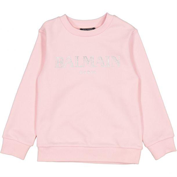 Girls Balmain Pink Sweat