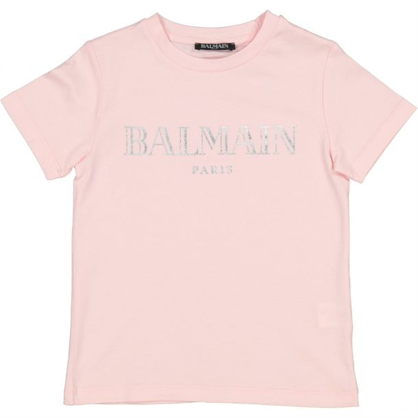 Girls Pink Branded T-shirt