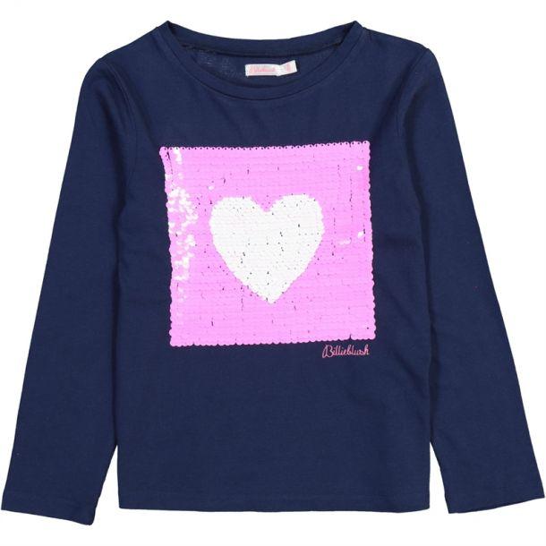 Girls Sequin Heart T-shirt