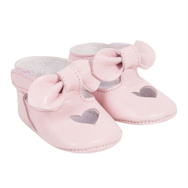 Baby Girl Pale Pink Heart Shoe