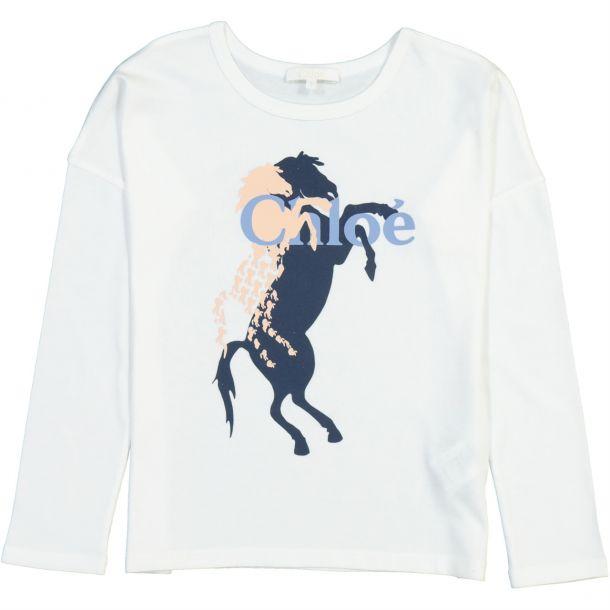 Girls Horse & Logo T-shirt