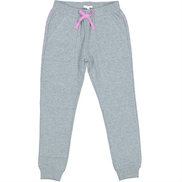 Girls Grey Jersey Track Pants