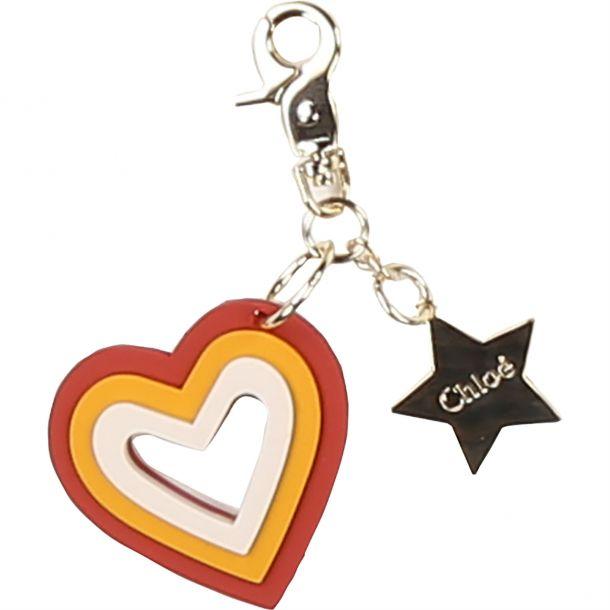 Chloe Heart Keyring