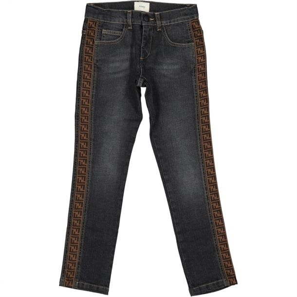 Boys Grey Ff Branded Jeans