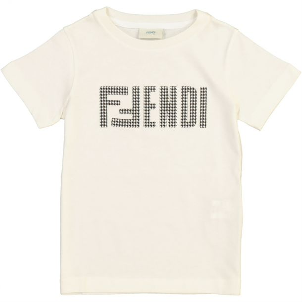 Boys White 'fendi' T-shirt