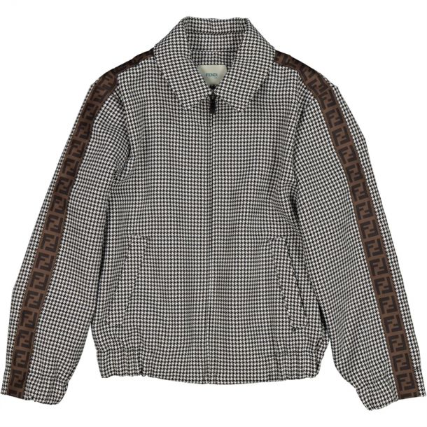 Boys Hound Tooth Bomber Jacket