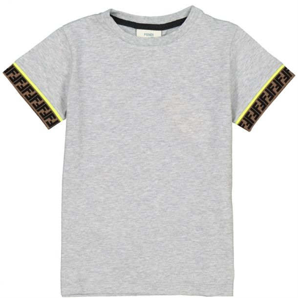 Boy Grey Ff Crew Neck T-shirt