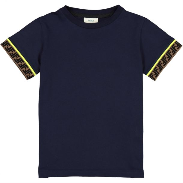 Boy Navy Ff 'crew Neck T-shirt
