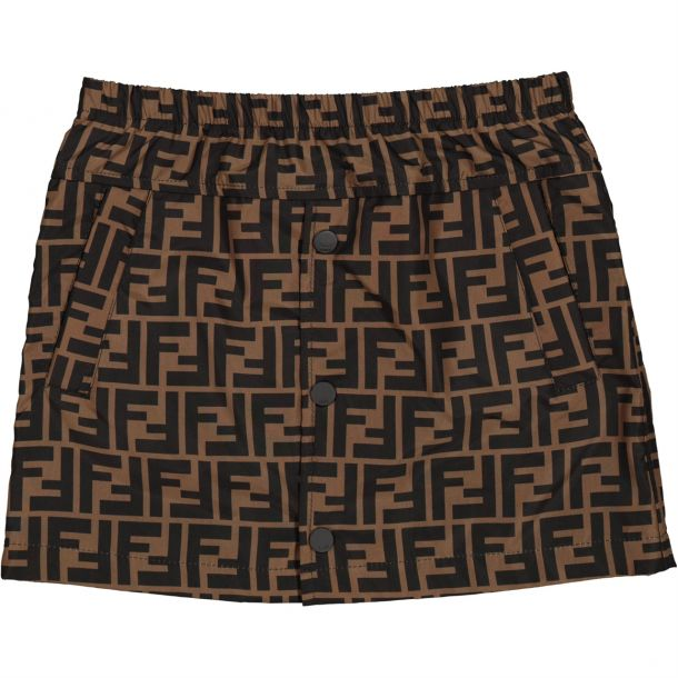 Girls 'ff' Popper Front Skirt