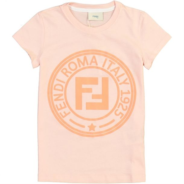 Girls Pink Fendi Roma T-shirt