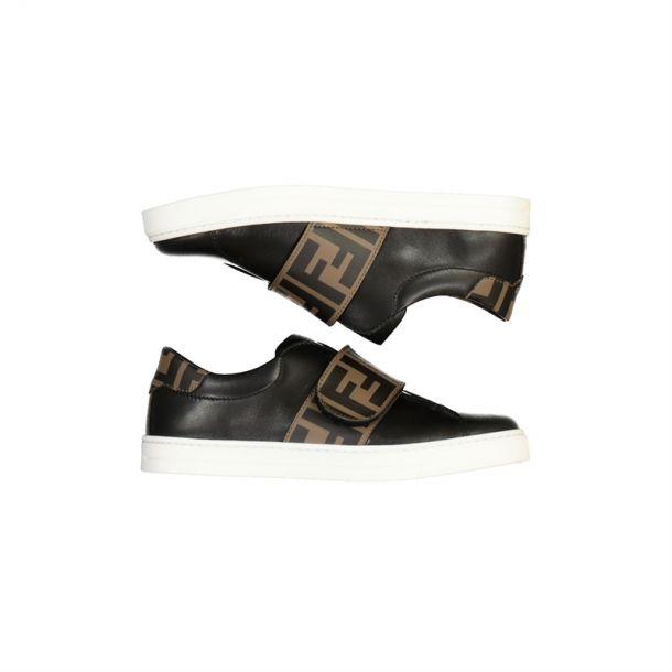 Unisex Black 'ff' Sneaker