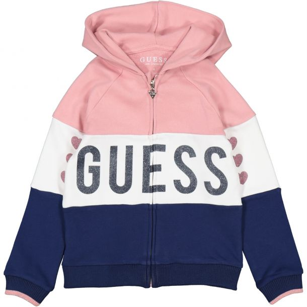 Girls Guess Logo Zip Up