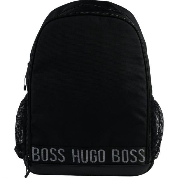Boys Black Branded Backpack