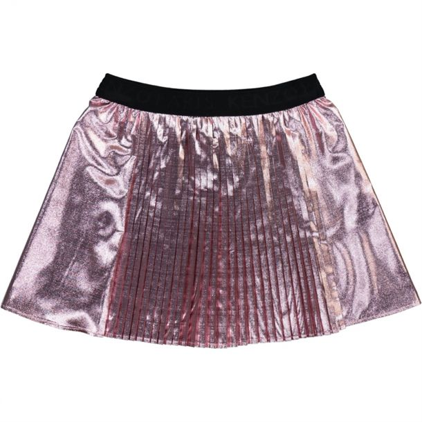 Girls Logo Waist Pleated Skirt