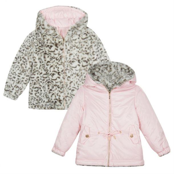 Girl 'levinyl' Reversible Coat