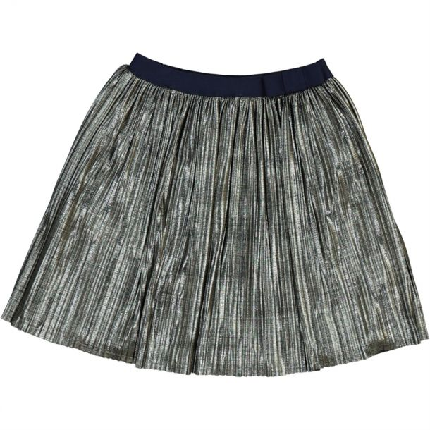 Girls Metallic Pleated Skirt