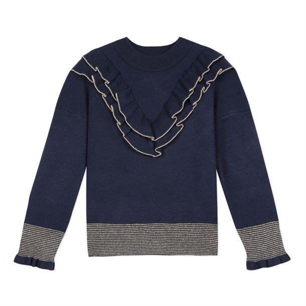 Girls Frill & Glitter Knit