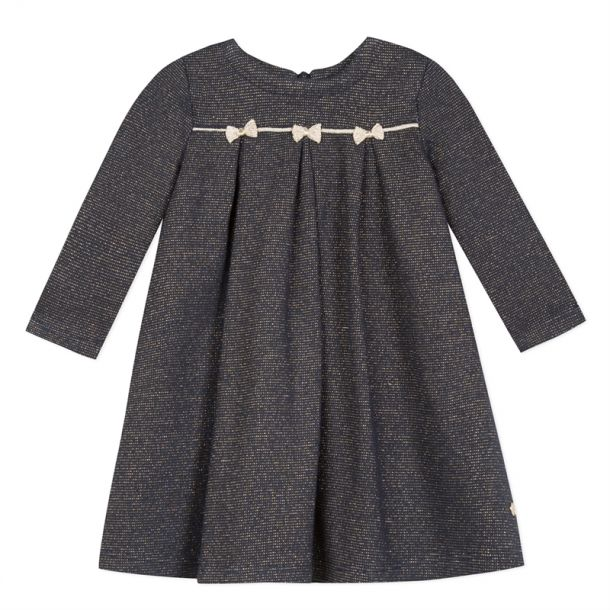 Baby Girls Gold Bow Dress