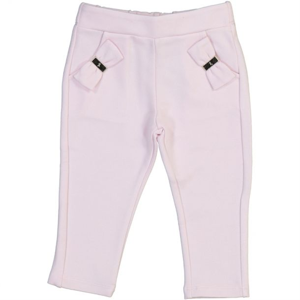 Baby Girls Bow Jersey Trousers
