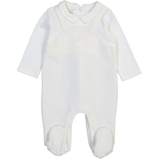 Baby Boy Bunny Dungaree Romper