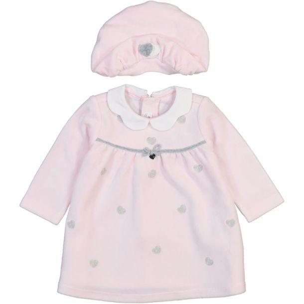 Baby Girls Velour Hat & Dress