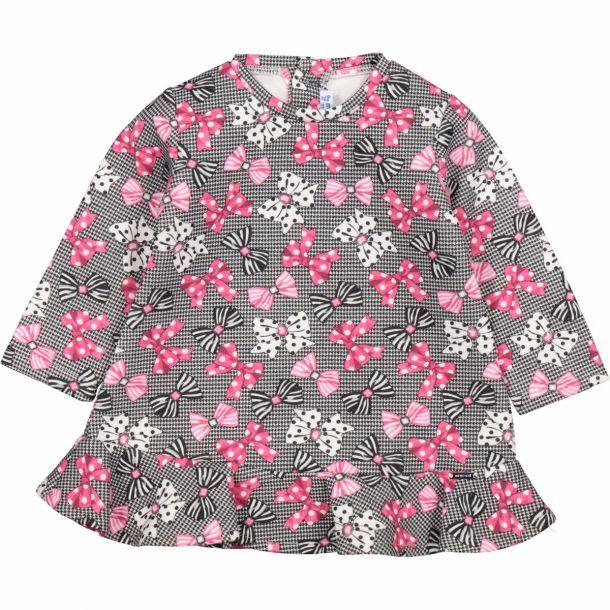 Bab Girls Bow Print Dress