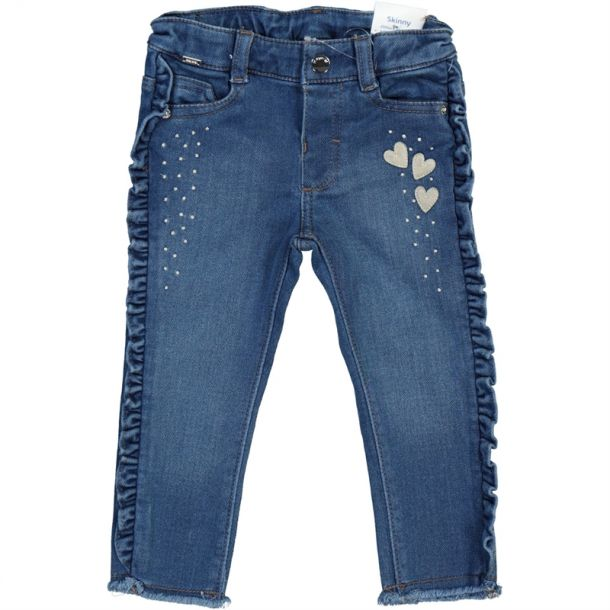 Baby Girls Heart Denim Jeans