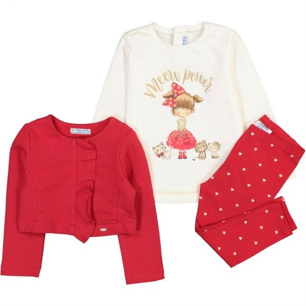 Baby Girls Red 3 Piece Set