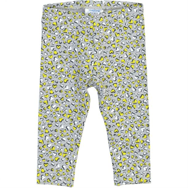 Baby Girls Grey Heart Leggings