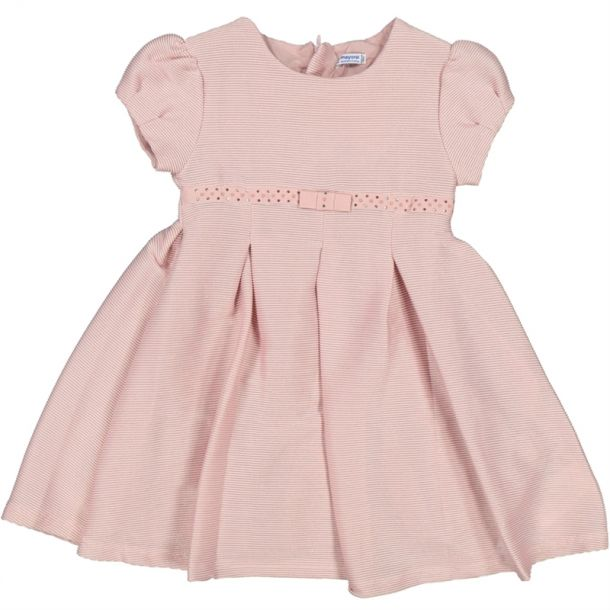 Girls Pink Diamante Trim Dress