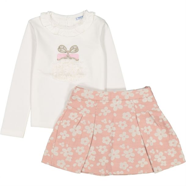 Girls Handbag Top & Skirt Set