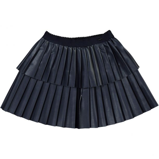 Girls Faux Leather Skirt