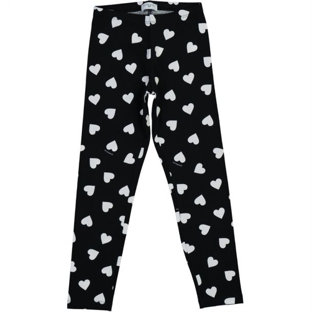 Girls Heart Print Leggings
