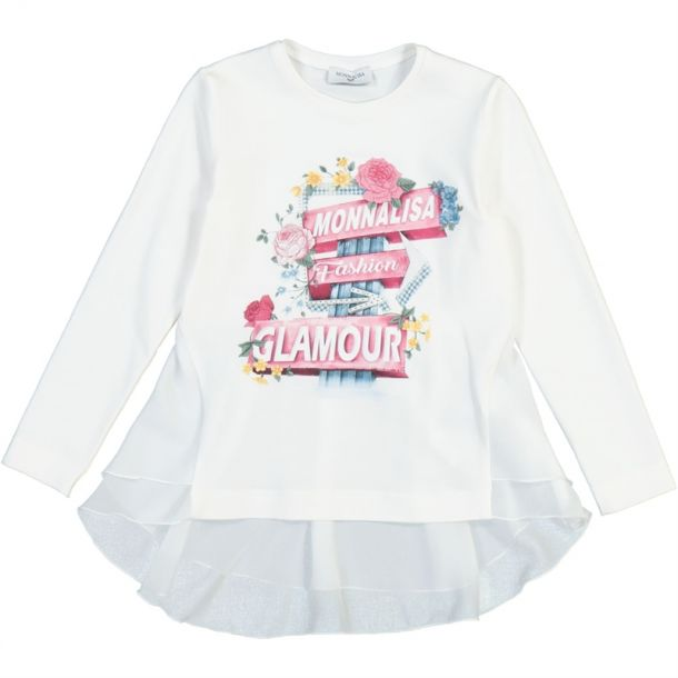 Girls Flower Print Tunic Top