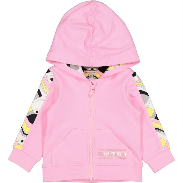 Baby Girls Pink Zip Up