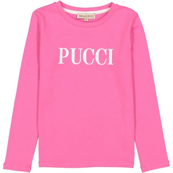 Girls Pink Pucci Logo T-shirt