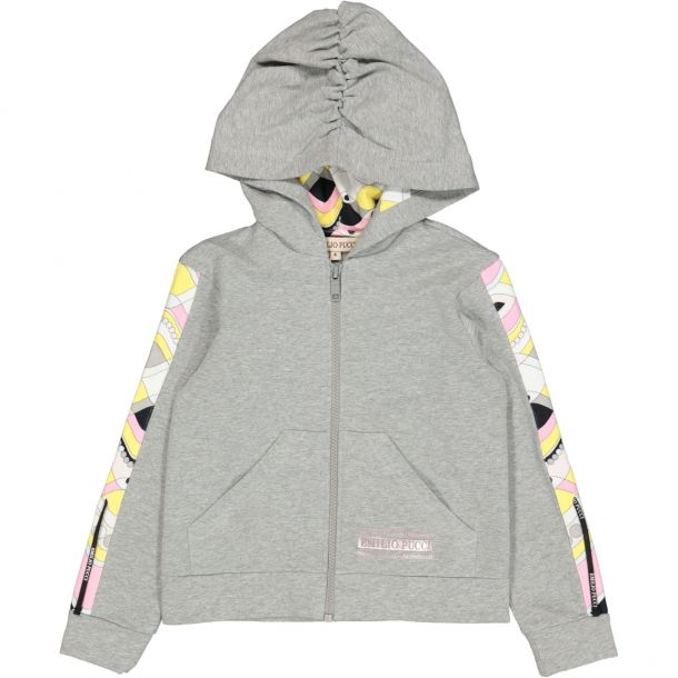 Girls Grey Pucci Zip Up