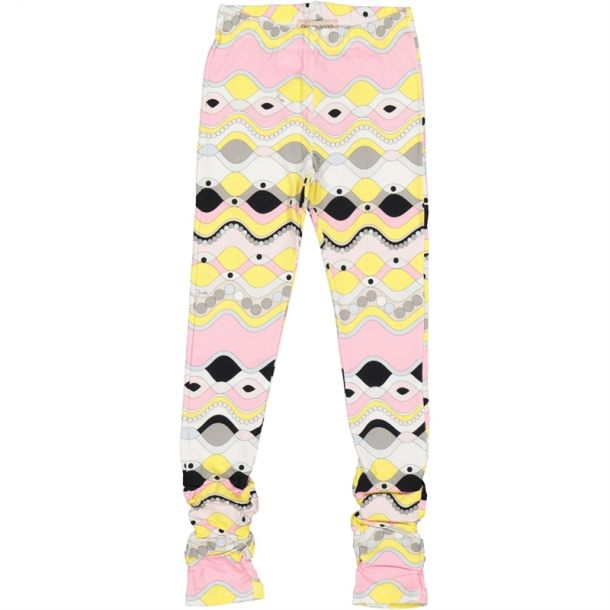 Girls Pucci Print Leggings