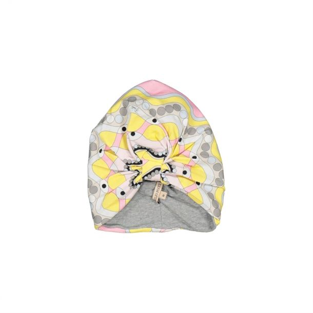 Girls Pucci Print Turban Hat