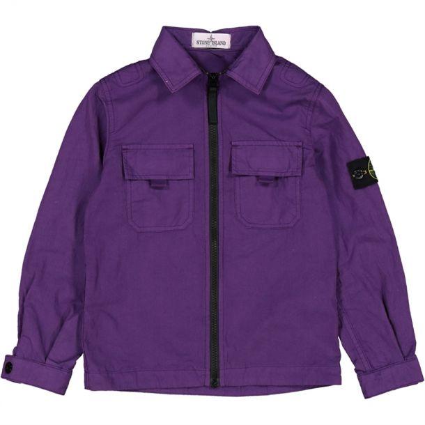 Boys Purple Zip Up Overshirt