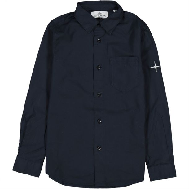 Boys Poplin Compass Shirt