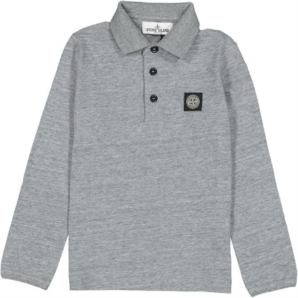 Boys Grey Marl Cotton Polo