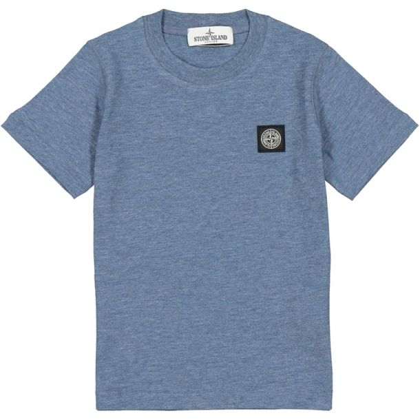 Boys Blue Marl Badge T-shirt